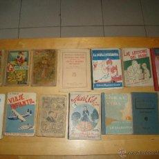 Libros antiguos: LOTE DE ANTIGUOS LIBROS DE ESCUELA. Lote 48355421