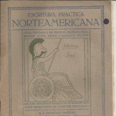 Libros antiguos: ESCRITURA PRÁCTICA NORTEAMERICANA. CUADERNO Nº9. 2ª EDICIÓN. AÑO 1912. SEIX BARRAL HNOS. BARCELONA. Lote 48571425