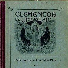 Libros antiguos: SALVADOR RIBA : URBANIDAD SEGUNDO GRADO (ELZEVIRIANA, 1915). Lote 48573238