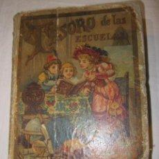 Libros antiguos: - TESORO DE LAS ESCUELAS - POR SATURNINO CALLEJA FERNÁNDEZ. 12 X 16,5 CMS.. Lote 48741637