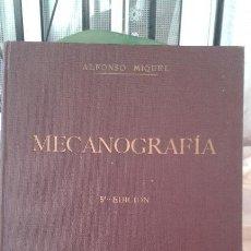 Libros antiguos: MECANOGRAFÍA METODO PRÁCTICO ALFONSO MIGUEL 1936. Lote 49279744