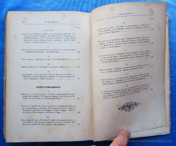 Libros antiguos: HISTORIA SAGRADA. POR EL RVDO. PEDRO GÓMEZ. EDITORIAL SATURNINO CALLEJA, MADRID, 1899. - Foto 6 - 49936329