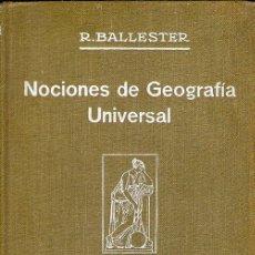 Libros antiguos: ATLAS DE GEOGRAFÍA UNIVERSAL. Lote 50291994