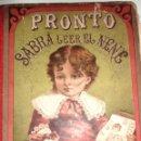 Libros antiguos: ANTIGUO LIBRO ESCOLAR PRONTO SABRA LEER EL NENE . BOURET . MEXICO 30 / 24 CM PRECIOSO GRABADOS . Lote 50328649