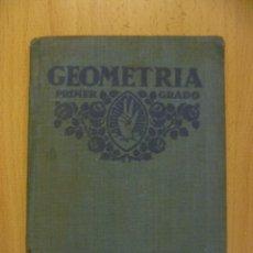 Libros antiguos: GEOMETRÍA PRÁCTICA PRIMER GRADO FTD 1931. Lote 50398433