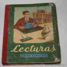 Libros antiguos: LECTURAS GRADUADAS LIBRO TERCERO, EDELVIVES 1952-54. Lote 50520154