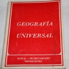 Libros antiguos: NOCIONES DE GEOGRAFIA UNIVERSAL, BANCA SECRETARIADO OPOSICIONES B-29 ANTONIO CABALLERO MARTINEZ 1984. Lote 50520441