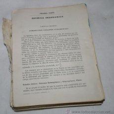 Libros antiguos: INICIACION A LA QUIMICA SUPERIOR, LIBRO. Lote 50523233