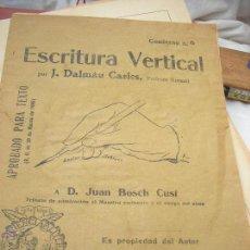 Libros antiguos: CUADERNO DE ESCRITURA VERTICAL.J.DALMAU CARLES AÑOS 30. Lote 50736384