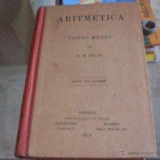 Libros antiguos: ARITMETICA CURSO MEDIO (BRUÑO) 1913 TAPA DURA (LB28). Lote 50826907