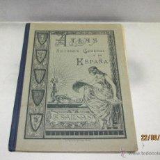 Libros antiguos: ANTIGUA ATLAS HISTORICO GENERAL Y DE ESPAÑA DE SALINAS DE SLVADOR SALINAS Y BELLVER - AÑO 1936. Lote 51475631
