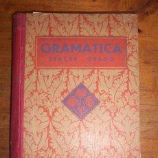 Libros antiguos: EDELVIVES. GRAMÁTICA ESPAÑOLA. TERCER GRADO. Lote 273525848