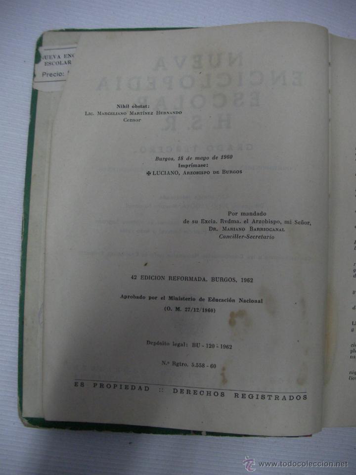 Libros antiguos: ANTIGUO LIBRO DE TEXTO NUEVA ENCICLOPEDIA ESCOLAR - Foto 3 - 51710592