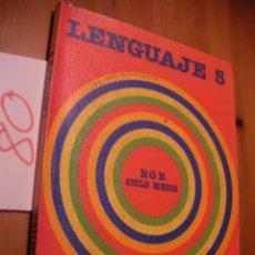 Libros antiguos: ANTIGUO LIBRO DE TEXTO - 5º EGB - LENGUAJE - SANTILLANA . Lote 51743174
