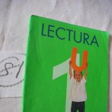 Libros antiguos: ANTIGUO LIBRO DE TEXTO - 1º EGB - LECTURA - SANTILLANA. Lote 52006957
