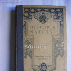 Libros antiguos: HISTORIA NATURAL Y PROGRAMA DE HISTORIA NATURAL DE INSTITUTO ALCOY 1928. ED. FTD A4. Lote 52128071