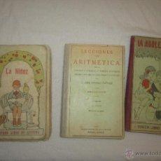 Libros antiguos: LOTE DE LIBROS ESCOLARES ANTIGUOS DE ENTRE 1929 Y 1930. Lote 52658127