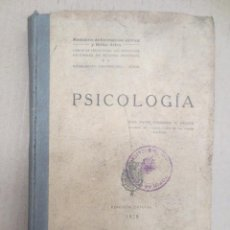 Libros antiguos: MINISTERIO DE INSTRUCCION PUBLICA Y BELLAS ARTES. PSICOLOGIA.. Lote 52663199