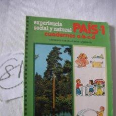 Libros antiguos: ANTIGUO LIBRO DE TEXTO - PAIS 1. Lote 52767984