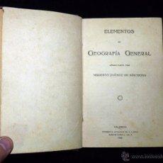 Libros antiguos: MODESTO JIMÉNEZ DE BENTROSA. ELEMENTOS DE GEOGRAFÍA GENERAL. SUCESOR DE A LÓPEZ. VALENCIA 1925. Lote 53641340