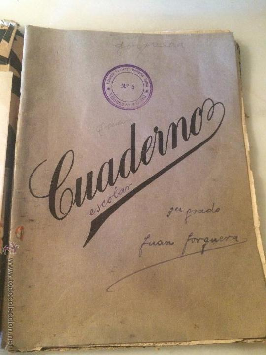 ANTIGUO CUADERNO ESCOLAR DE JUAN JORQUERA DATADO EN VILANOVA Y LA GELTRU AÑO 1935 (Libros Antiguos, Raros y Curiosos - Libros de Texto y Escuela)