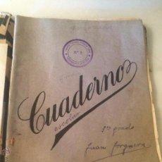 Libros antiguos: ANTIGUO CUADERNO ESCOLAR DE JUAN JORQUERA DATADO EN VILANOVA Y LA GELTRU AÑO 1935 . Lote 53894289