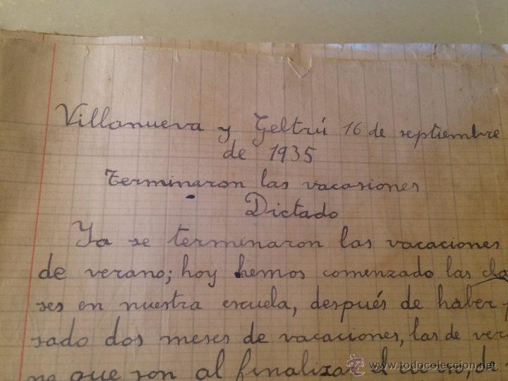 Libros antiguos: Antiguo cuaderno escolar de Juan Jorquera datado en Vilanova y la Geltru año 1935 - Foto 3 - 53894289
