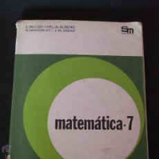 Libros antiguos: LIBRO DE MATEMÁTICAS – 7º EGB. Lote 53993453