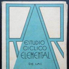 Libros antiguos: ESTUDIO CICLICO ELEMENTAL DE LAS CIENCIAS NATURALES - SEGUNDO CURSO - RAMÓN RUIZ - ALICANTE 1936. Lote 54082407