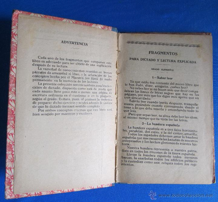 Libros antiguos: FRAGMENTOS PARA DICTADO Y LECTURA EXPLICADA. CURSO PORCEL. TIPOGRAFÍA PORCEL, PALMA DE MALLORCA 1926 - Foto 4 - 54100324