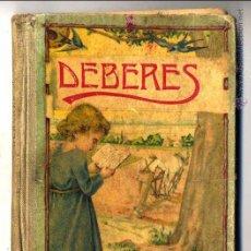 Libros antiguos: DEBERES DALMAU CARLES, PLA, S.A. GERONA 1932 LIBRO TEXTO. Lote 130028900