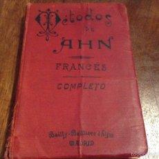 Libros antiguos: MÉTODOS DE AHN FRANCÉS COMPLETO. 1905. Lote 54328372