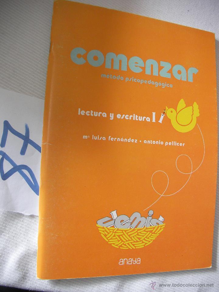 ANTIGUO LIBRO DE TEXTO - COMENZAR - LECTURA Y ESCRITURA - ANAYA (Libros Antiguos, Raros y Curiosos - Libros de Texto y Escuela)