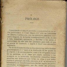 Libros antiguos: 2º AÑO DE LECCIONES DE LENGUA CASTELLANA. DE G. M. BRUÑO. 1906/9. (10.2). Lote 54710648