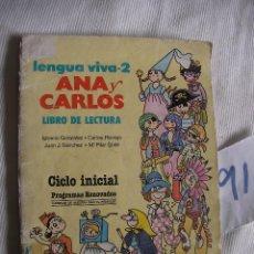 Libros antiguos: ANTIGUO LIBRO DE TEXTO - LECTURA - LENGUA VIVA 2 . Lote 54727408