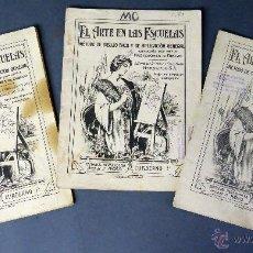 Libros antiguos: EL ARTE EN LAS ESCUELAS MÉTODO DIBUJO PERLADO PAEZ CÍA ED SUCESORES HERNANDO Nº 1 - 2 - 3 . Lote 54782773