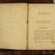 Libros antiguos: 7023 - LECCIONES DE GEOMETRÍA DE POSICIÓN. VV. AA.(VER DESCRIP). 1884.. Lote 52473768