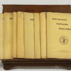 Libros antiguos: 7261 - INTERNACIONAL INSTITUCIÓN ELECTROTÉCNICA. 9 EJEMP.(VER DESCRIP). 1909-1915.. Lote 54818785