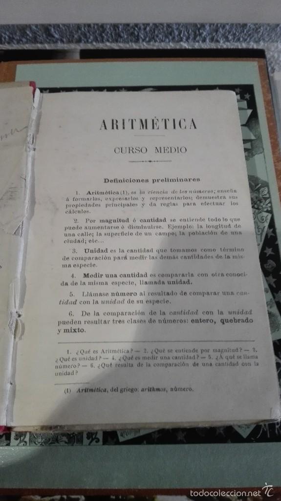 Libros antiguos: ARITMETICA, CURSO MEDIO POR G.M. BRUÑO - Foto 3 - 55134037