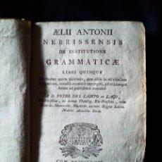 Livres anciens: AELII ANTONII NEBRISSENSIS DE INSTITUTIONE GRAMMATICAE - 1816. Lote 55328079