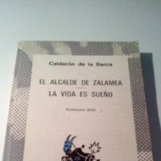 Libros antiguos: LIBRO CALDERON DE LA BARCA -LA VIDA ES UN SUEÑO . Lote 56241879