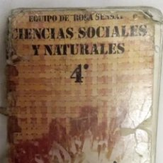 Libros antiguos: LIBRO DE TEXTO CIENCIAS SOCIALES Y NATURALES 4º EGB. Lote 56286295