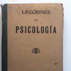 Libros antiguos: LECCIONES DE PSICOLOGIA. 1924. . Lote 56532861