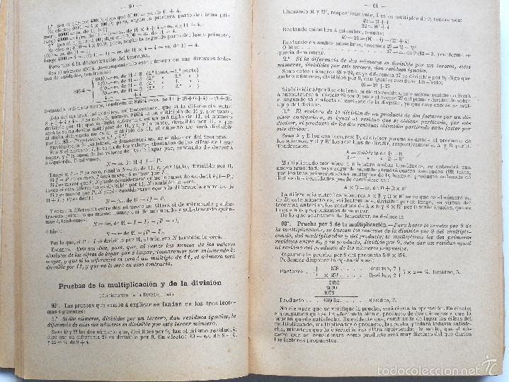 Libros antiguos: ARITMÉTICA RAZONADA Y NOCIONES DE ÁLGEBRA - LIBRO ALUMNO GRADO PROFESIONAL - JOSÉ DALMAU - AÑO 1905 - Foto 3 - 56658478