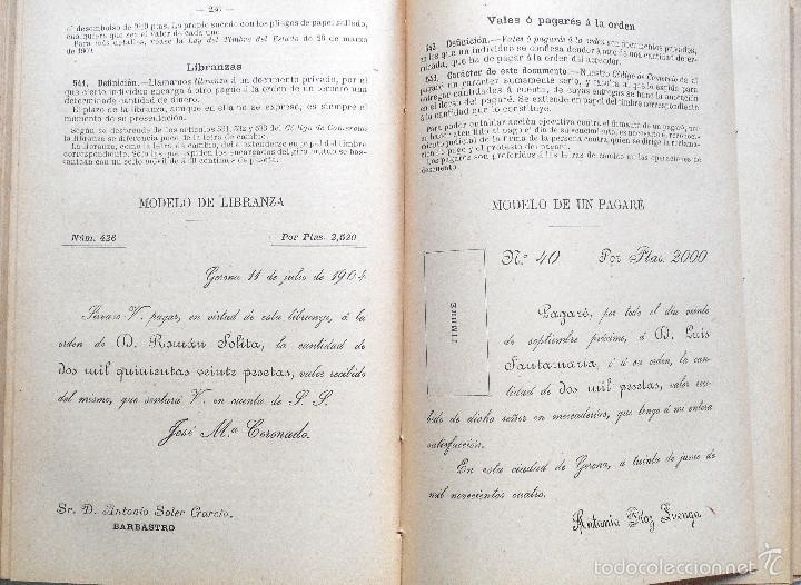 Libros antiguos: ARITMÉTICA RAZONADA Y NOCIONES DE ÁLGEBRA - LIBRO ALUMNO GRADO PROFESIONAL - JOSÉ DALMAU - AÑO 1905 - Foto 4 - 56658478