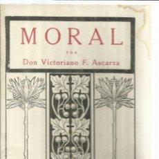 Libros antiguos: MORAL. VICTORIANO F. ASCARZA. MAGISTERIO ESPAÑOL. MADRID. 1933. Lote 56689122
