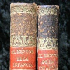 Libros antiguos: 1843 - EL MENTOR DE LA INFANCIA - EDUCACION FAMILIAR - PERIODICO DE LOS NIÑOS - ILUSTRADO - 2 TOMOS. Lote 56863112