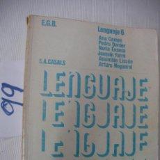 Libros antiguos: ANTIGUO LIBRO DE TEXTO - LENGUAJE 6º EGB. Lote 56921404