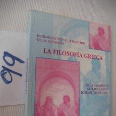 Libros antiguos: ANTIGUO LIBRO DE TEXTO - INTRODUCCION A LA HISTORIA DE LA FILOSOFIA - LA FILOSOFIA GRIEGA. Lote 56921616
