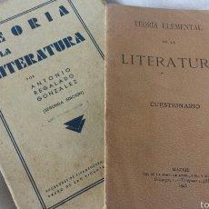Libros antiguos: TEORÍA DE LA LITERATURA. ANTONIO REGALADO GONZÁLEZ. 2ª EDICIÓN. CON PROGRAMA TEORIA DE LITERATURA. Lote 57136452
